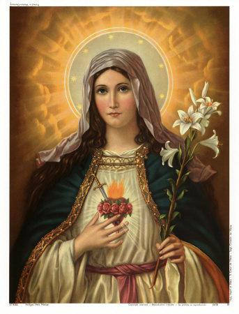 Marias hellige hjerte Kunsttryk