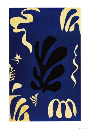 Composition Fond Bleu Prints by Henri Matisse