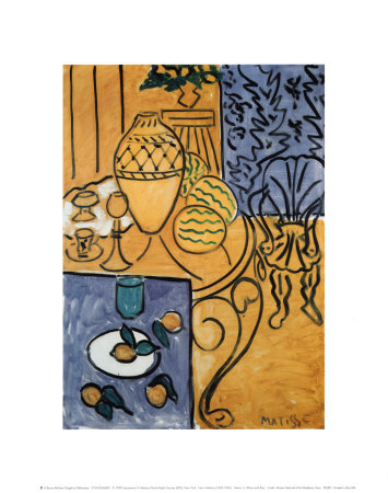 Interior in Yellow and Blue, 1946 Posters af Henri Matisse