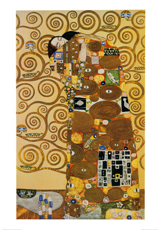 Fulfillment, Stoclet Frieze, c.1909 Prints by Gustav Klimt