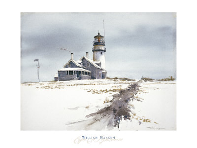 Cape Cod Lighthouse Poster by William Mangum