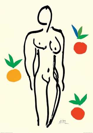 Nude with Oranges Art by Henri Matisse