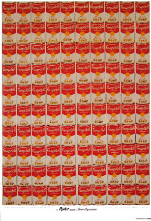 100 Campbell's Soup Cans Reproduction d'art