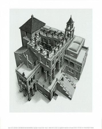 Ascending and Descending Prints by M. C. Escher
