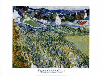 Vineyards at Auvers, c.1890 Posters by Vincent van Gogh