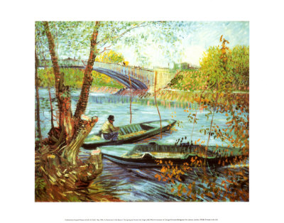 Fishing in the Spring, Pont de Clichy, c.1887 Kunstdruck
