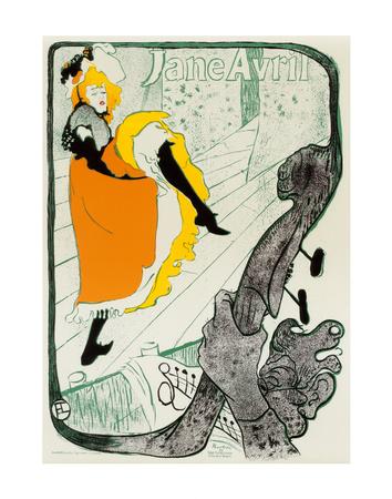 Jane Avril, 1893 Prints by Henri de Toulouse-Lautrec