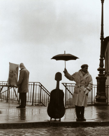 Musician in the Rain Prints by Robert Doisneau at AllPosters.