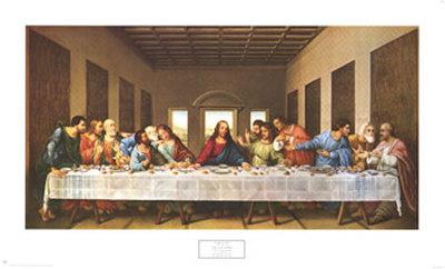 The Last Supper,1497 Prints by  Leonardo da Vinci