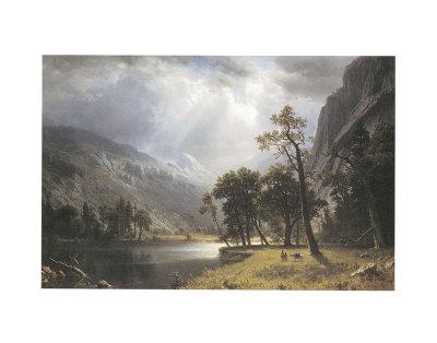 Half Dome, Yosemite Valley Art by Albert Bierstadt