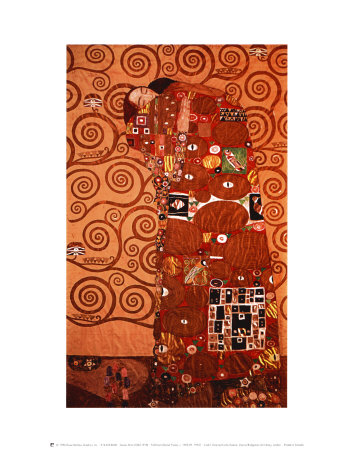 Fulfillment, Stoclet Frieze, c.1909 Poster by Gustav Klimt
