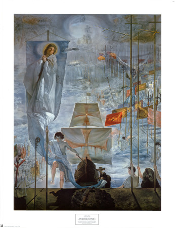 Discovery of America by Christopher Columbus Print by Salvador Dalí
