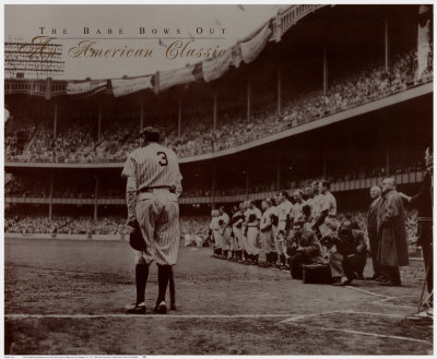 The Babe Bows Out, 1948 Posters af Nat Fein