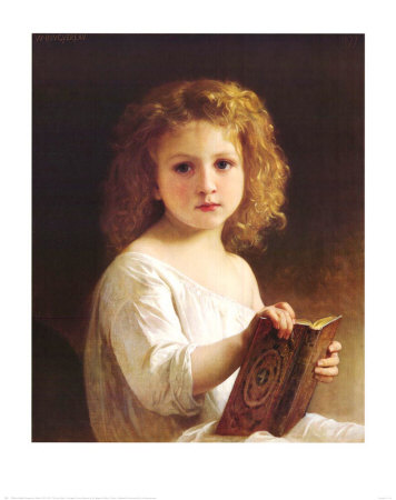 The Story Book Art by William Adolphe Bouguereau