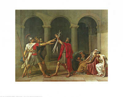 The Oath of the Horatii, 1784 Art Print