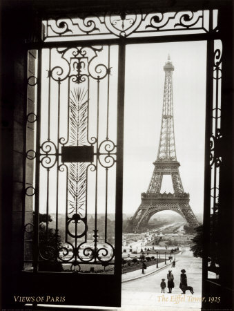 Paris, France, View of the Eiffel Tower Art Print
