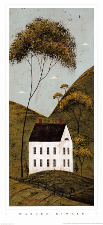 Country Panel III, House Art Print