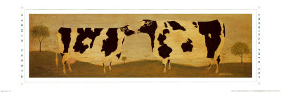 Kissing Cows Art Print