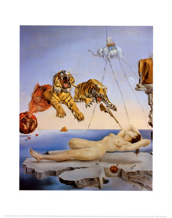 Dream Caused by the Flight of a Bee around a Pomegranate, c. 1944 Art Print