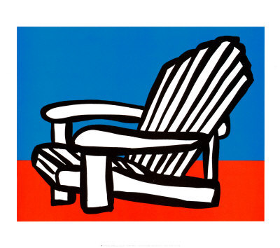 Adirondack Chair Art Print