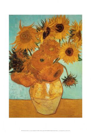 Solrosor, ca 1888 Konst av Vincent van Gogh