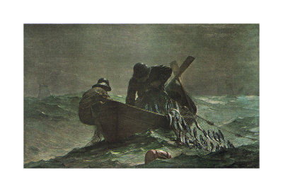 The Herring Net, 1885 Poster by Winslow Homer