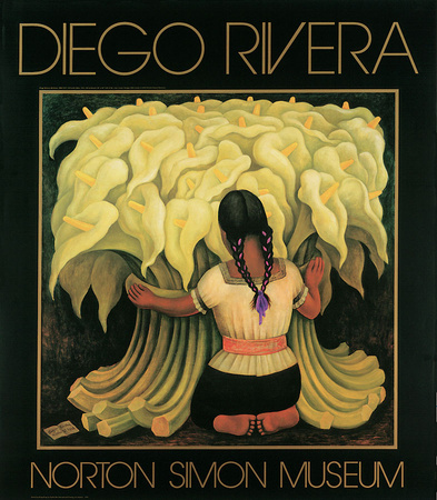 Girl with Lilies Posters by Diego Rivera