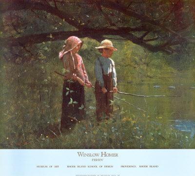 Fishin' Print by Winslow Homer