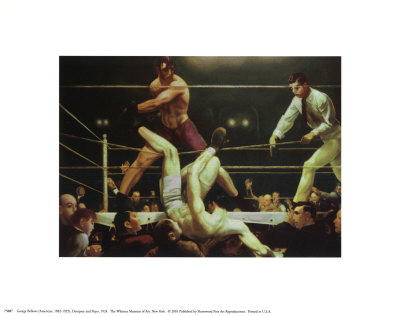 Dempsey and Fipro, 1924 Posters af George Wesley Bellows