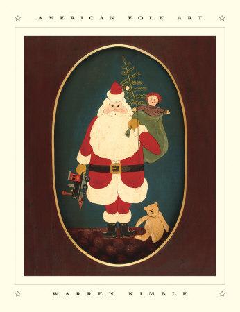 Santa with Toys Prints by Warren Kimble
