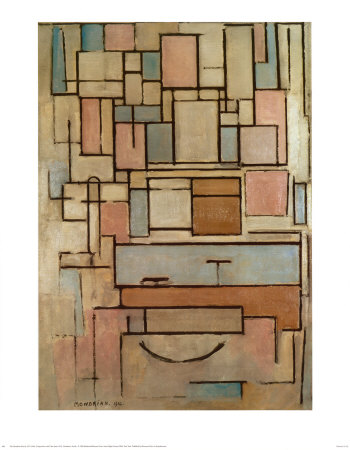 Composition with Color Areas Art by Piet Mondrian