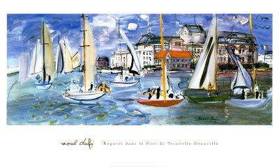 Regates Dans le Port de Trouville Posters av Raoul Dufy