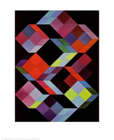 Tridem K Prints by Victor Vasarely