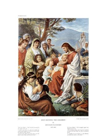 Jesus Blessing the Children Plakater af Bernhard Plockhorst