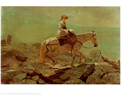 Bridle Path White Mountains Print by Winslow Homer