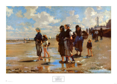 Oyster Gatherers of Cancale, 1878 Art by John Singer Sargent