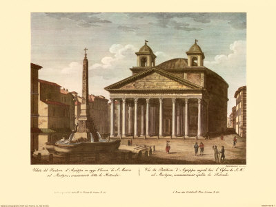 View of the Pantheon Prints by Alessandro Antonelli