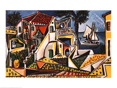 地中海の風景 1952年 高品質プリント : パブロ・ピカソ
