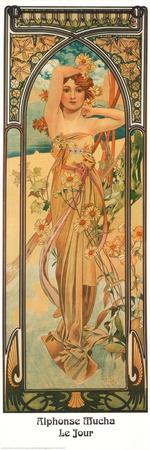 Day Prints by Alphonse Mucha