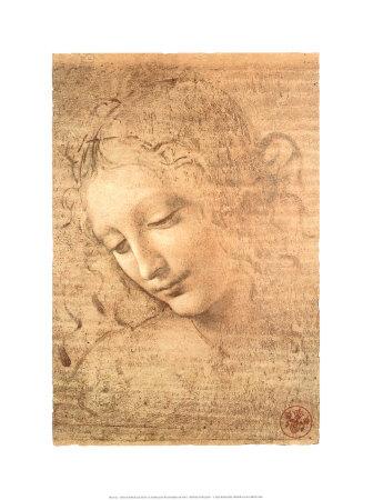 Female Head (La Scapigliata), c.1508 Posters by  Leonardo da Vinci