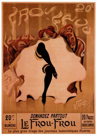 Le Frou Frou Print by Lucien-Henri Weiluc