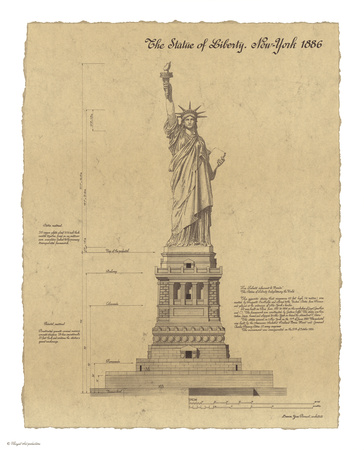 Statue of Liberty New York Art by Yves Poinsot