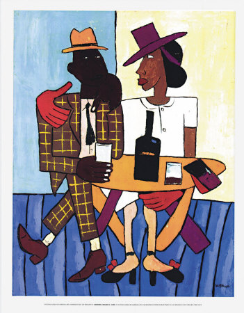 Café, c.1939-40 Poster by William H. Johnson