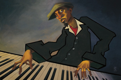 Piano Man II Art Print