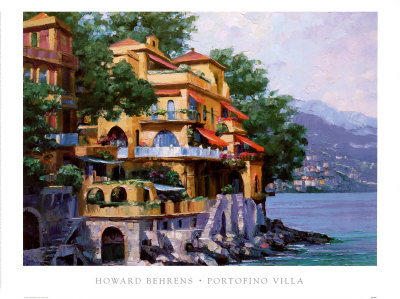 Portofino Villa Art Print