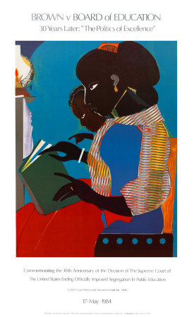 Lamp-Brown V Print by Romare Bearden