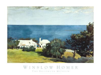 Shore at Bermuda Art by Winslow Homer