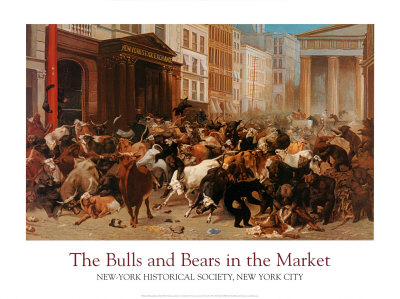 Bulls and Bears in the Market Art Print