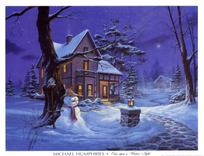 Once Upon a Winters Night Art Print