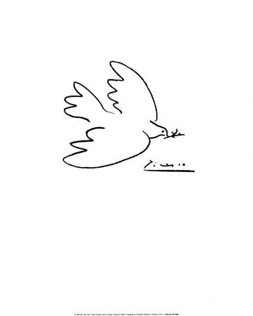 Holubice míru Umělecká reprodukce